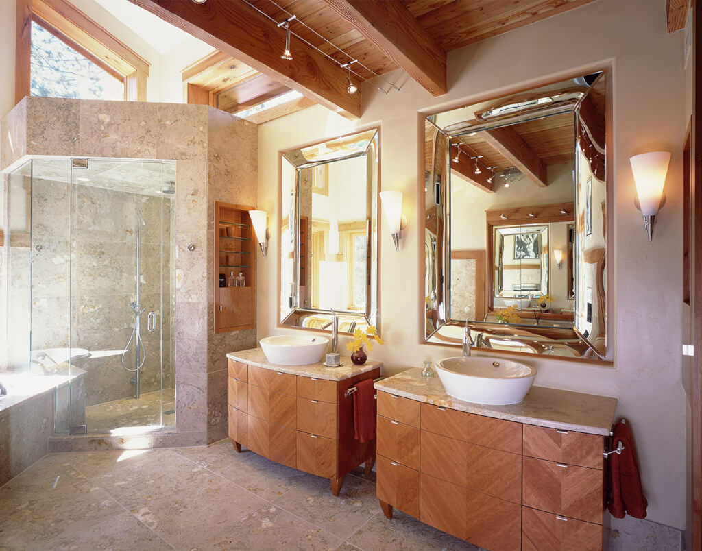 Lake Tahoe bathroom anke design mirrors